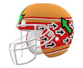 Susanna Taylor's custom NFL helmet design