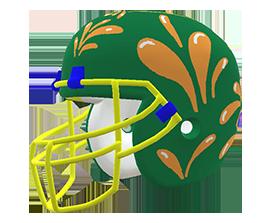 Yenelys Acosta's custom NFL helmet design