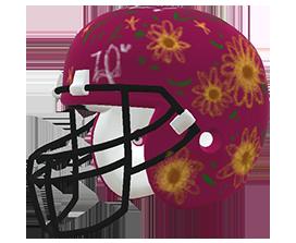 Zaire Diaz's custom NFL helmet design