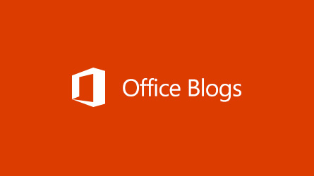 Office Blogs logo, read an article about Archiving third-party data in Office 365