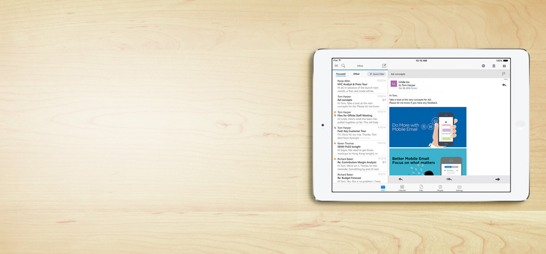 Outlook on iPad