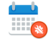 Calendar and support icons, learn about release and support for Microsoft products