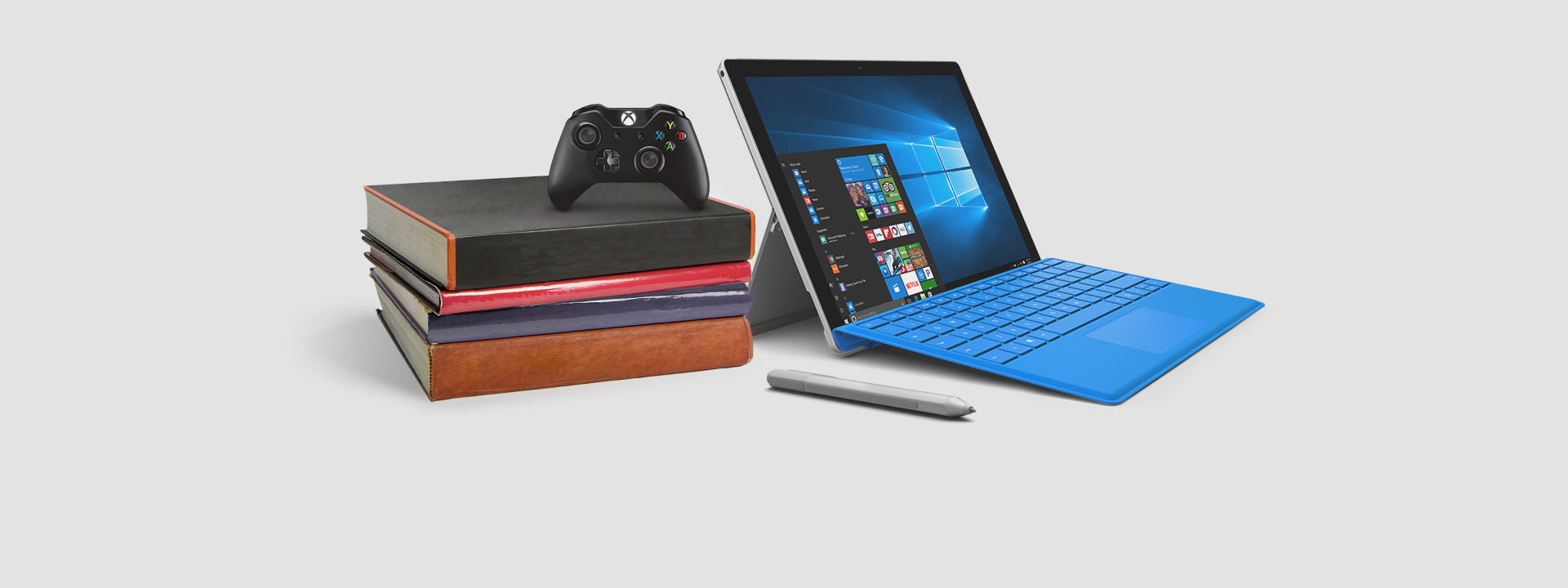 Surface Pro 4 with Xbox controller, learn about our limited-time offer