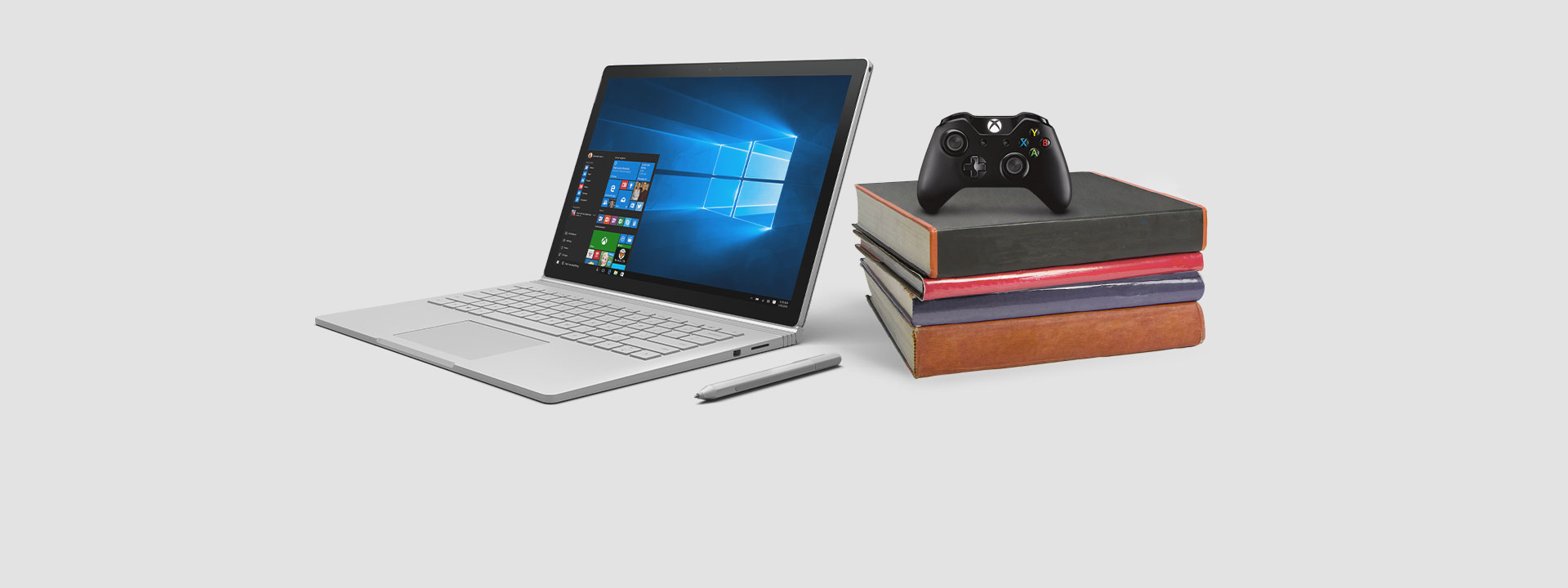 Surface Book with Xbox controller, learn about our limited-time offer