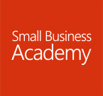 Small Business Academy logo, register for the Small Business Academy webcast series