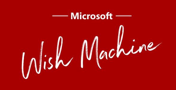 Wish Machine at Microsoft Store