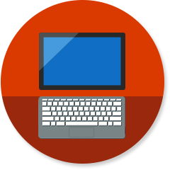 2-in-1 computer icon