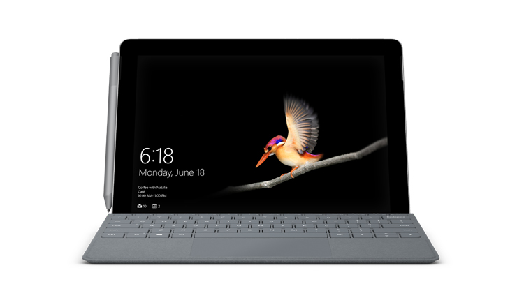 Device render of Surface Go