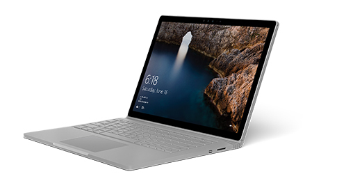 Surface Book, facing left