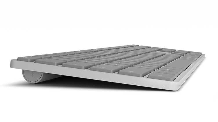 Surface keyboard as seen from the left side