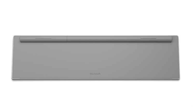 Surface keyboard as seen from the bottom