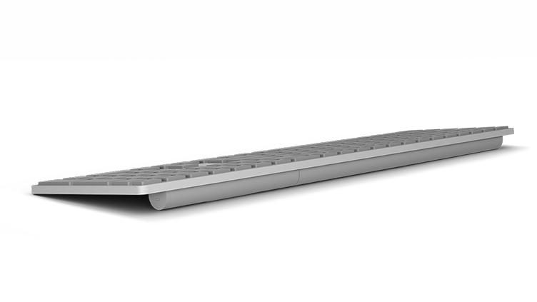 Surface keyboard as seen from the back right