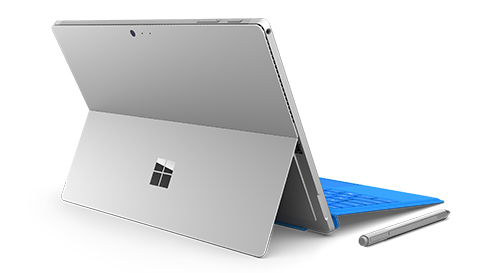 Detail of Surface Pro 4 kickstand