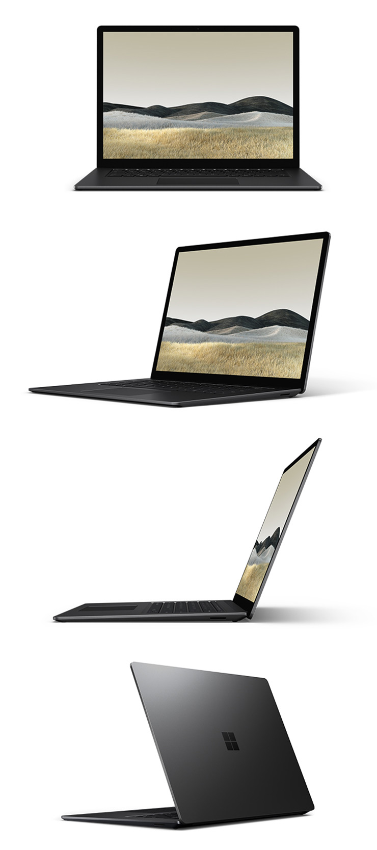 "360 rotation of the Surface Laptop 3 15"" (Black)"