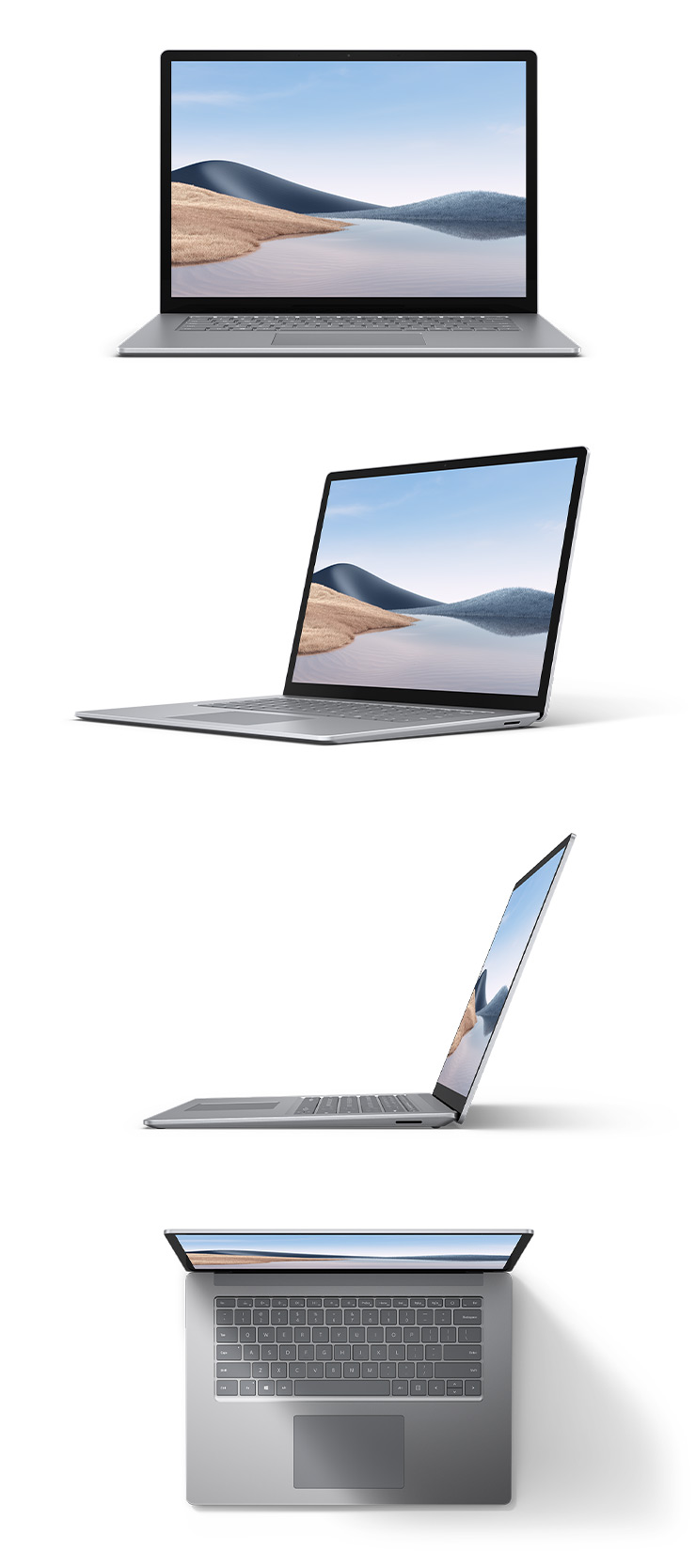 "360 rotation of the Surface Laptop 4 15"" (Platinum)"