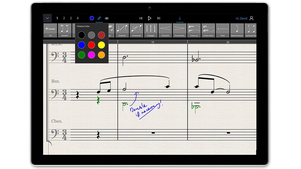 StaffPad app on Surface