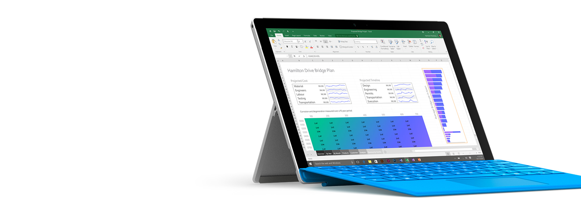 Surface Pro 4 with Office on screen