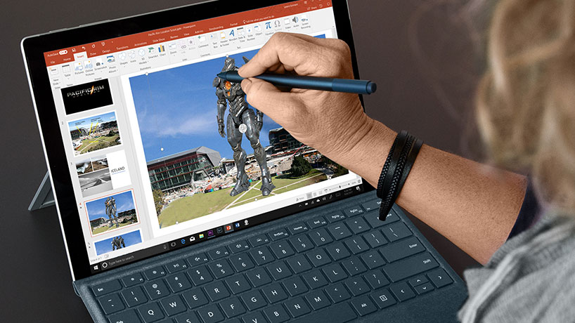 Leann Emmert drawing on Surface with Surface Pen
