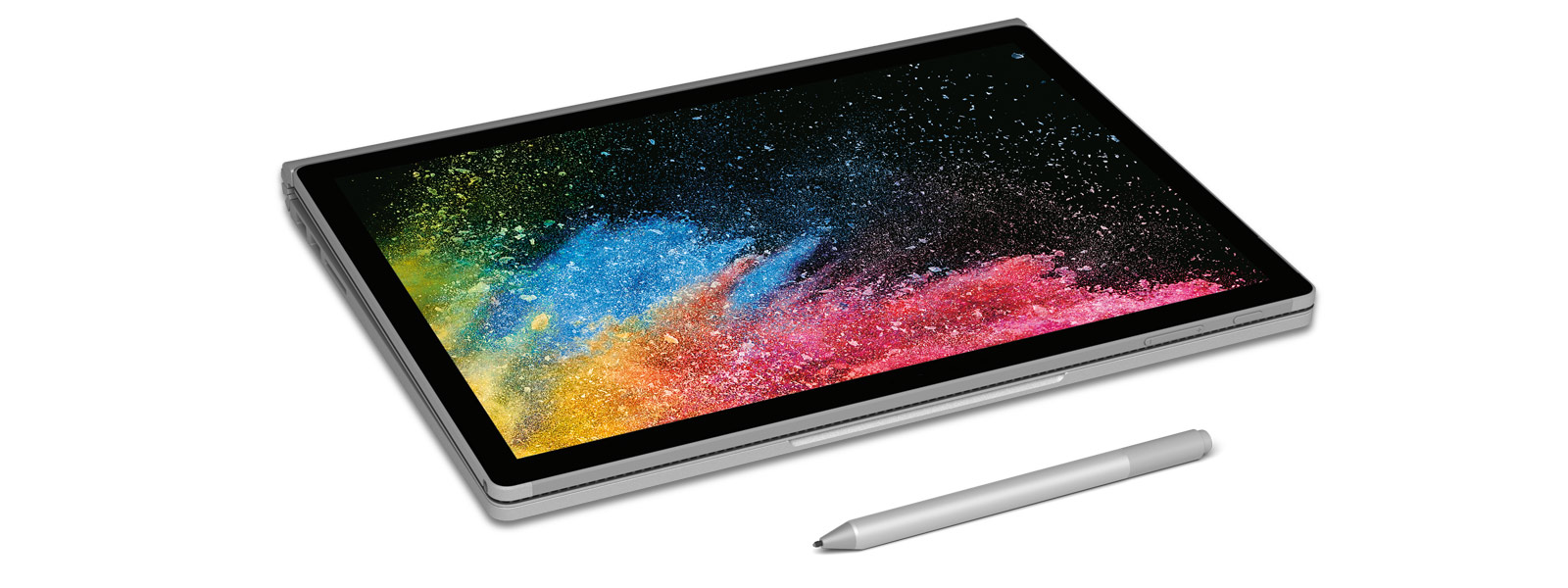 Surface Book 2 in clipboard mode with Surface Pen.