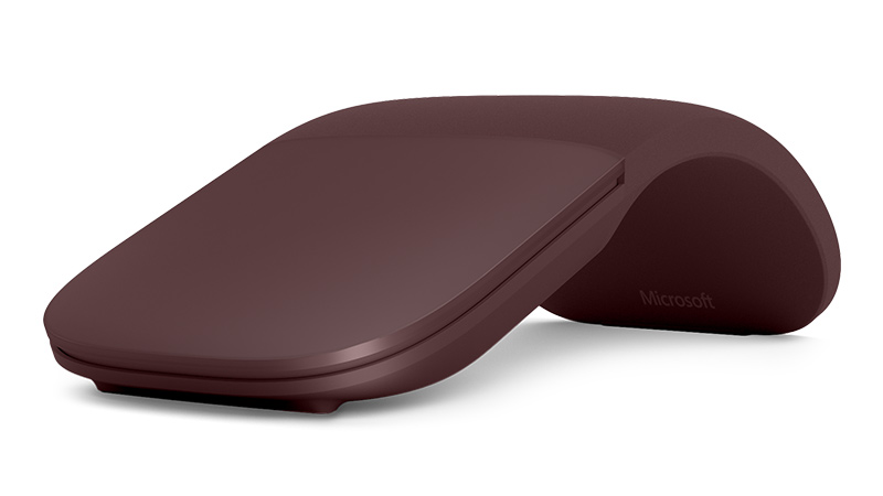 Burgundy color Surface Arc Mouse