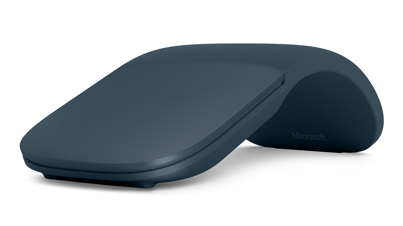 Cobalt Blue color Surface Arc Mouse