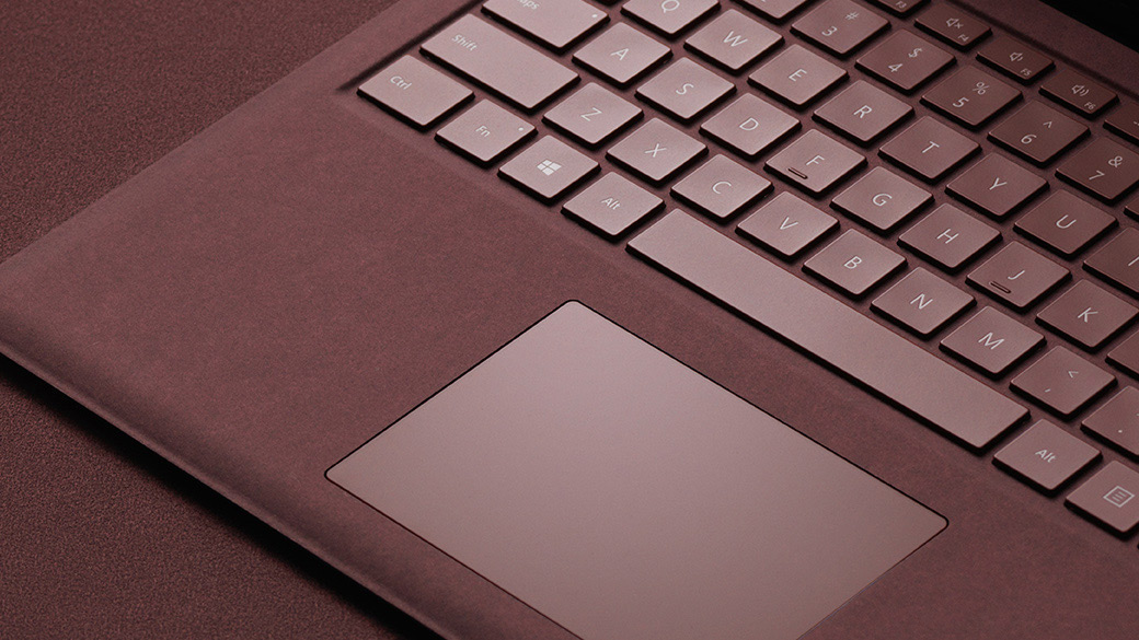 Surface Laptop Alcantara® keyboard.