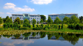 Two office buildings at the Microsoft campus in Thames Valley
