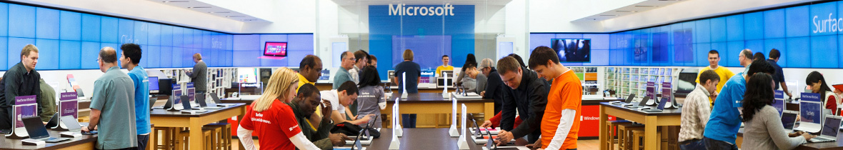 Picture of a Microsoft Store
