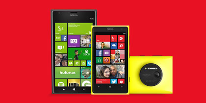 Get the Nokia Lumia 1520 and Lumia 1020.