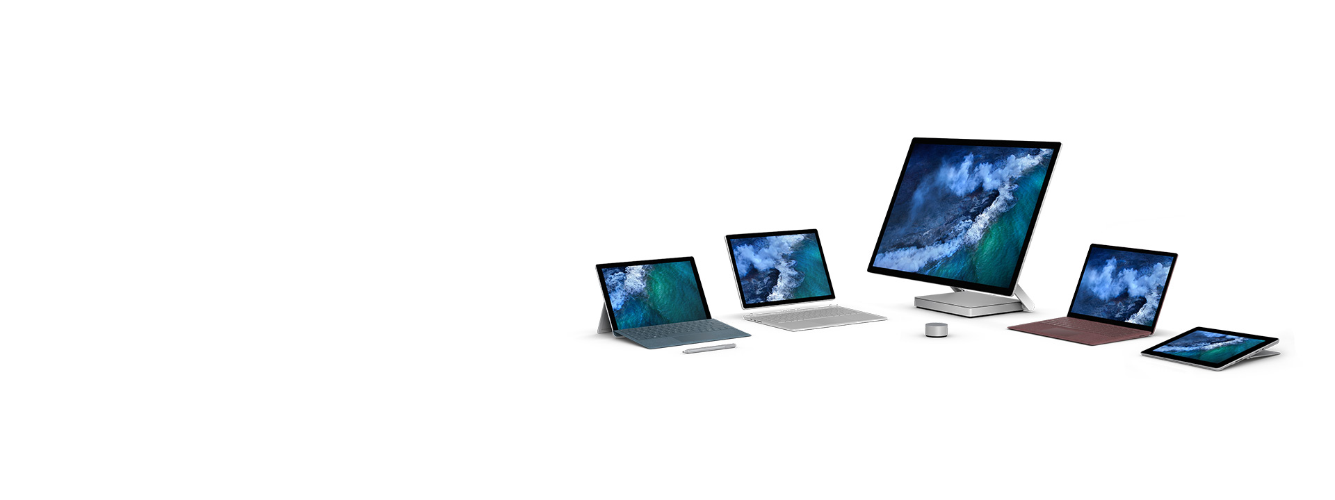 Surface Family – Surface Go, Surface Pro, Surface Laptop, Surface Book 2 and Surface Studio
