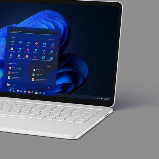 laptop displaying the Windows 11 start screen