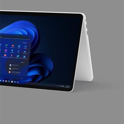 A 2-in1 machine displaying the Windows 11 start screen