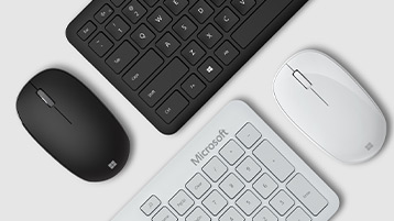 A mouse and keyboard side-by-side