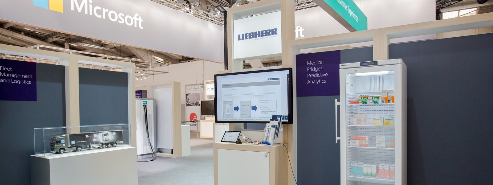 Liebherr booth at event