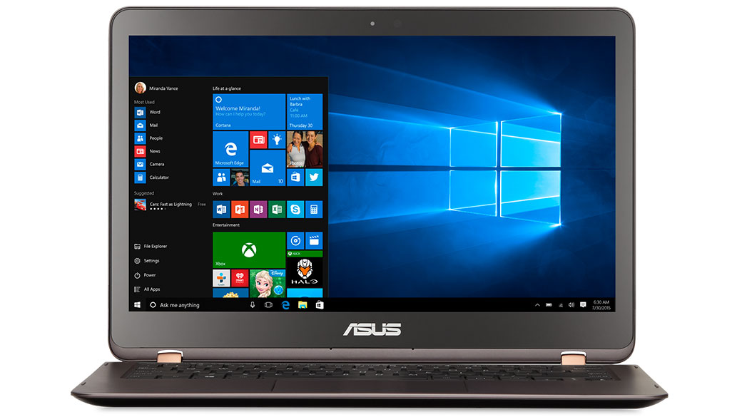 Front-facing image of the ASUS Q Series Q324