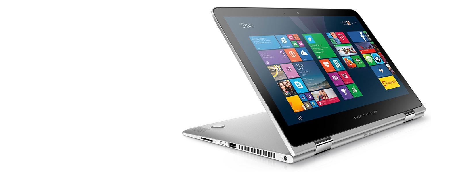 HP Spectre x360 13 with Windows 10 start screen