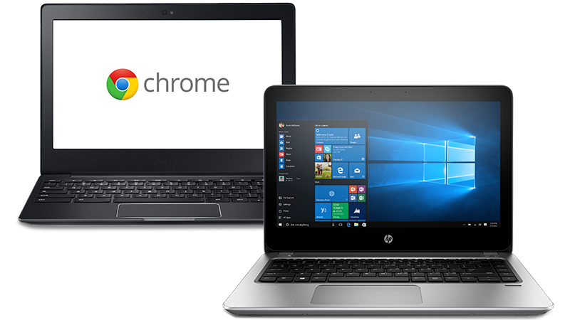 Chromebook next to HP ProBook 430 G4