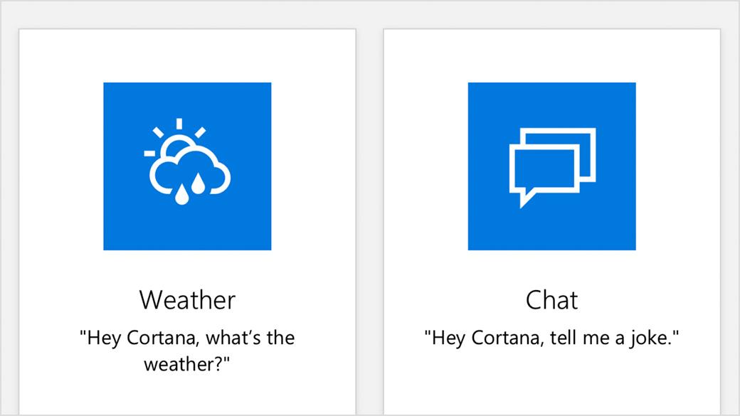 Cortana skills