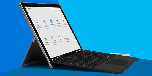 A Surface Pro 4 with keyboard