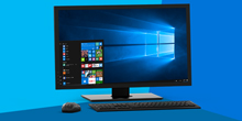 A Windows 10 all-in-one PC with start menu