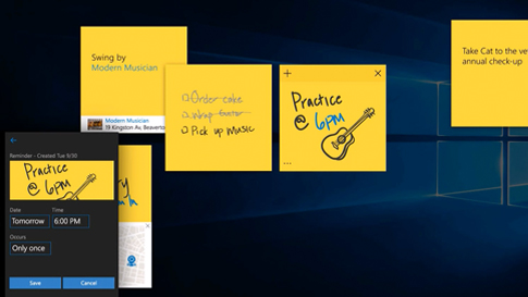 Sticky Notes with Cortana