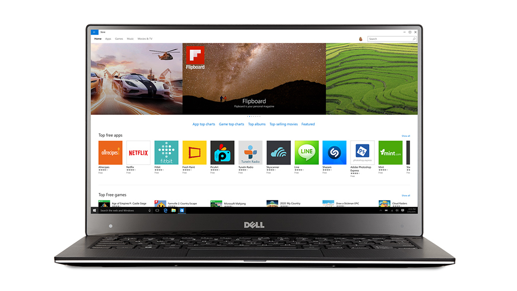 Windows Store Apps on Dell device