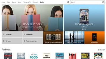 Microsoft Books in the Windows Store and Microsoft Edge