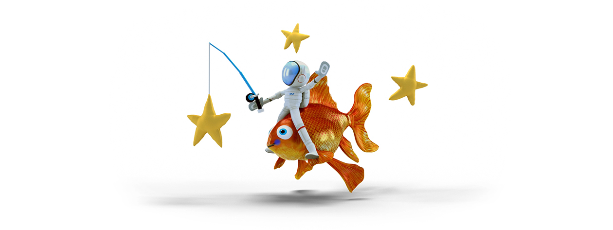 Fishing stars Windows Paint 3D image