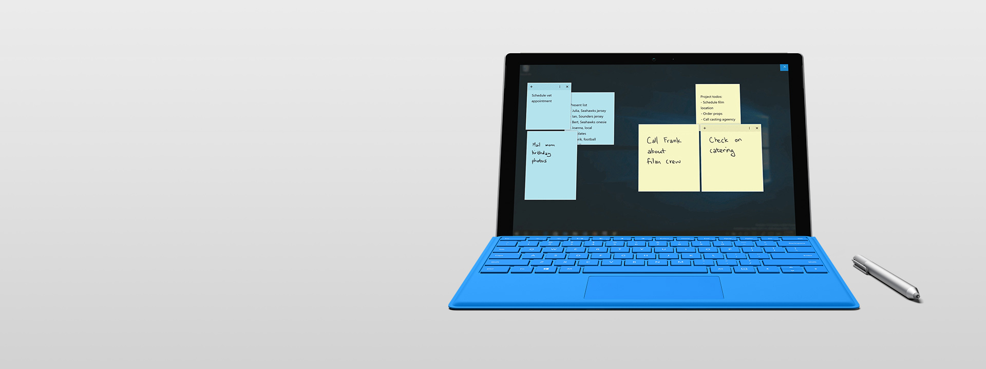 Surface Pro 4 with Sticky Notes