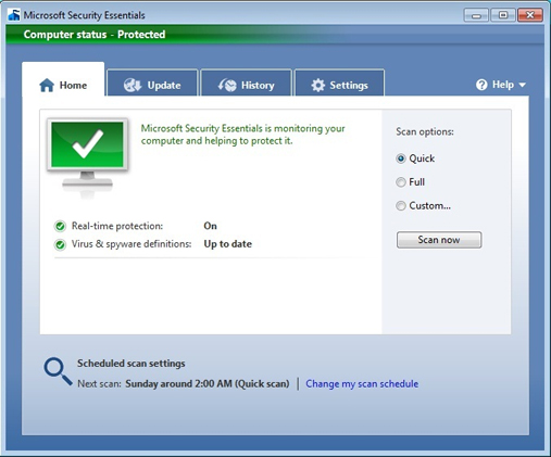 Image result for microsoft security essentials