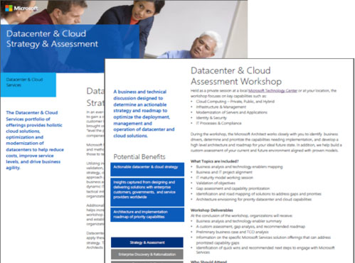 Datacenter and Cloud Strategy and Assessment Datasheet