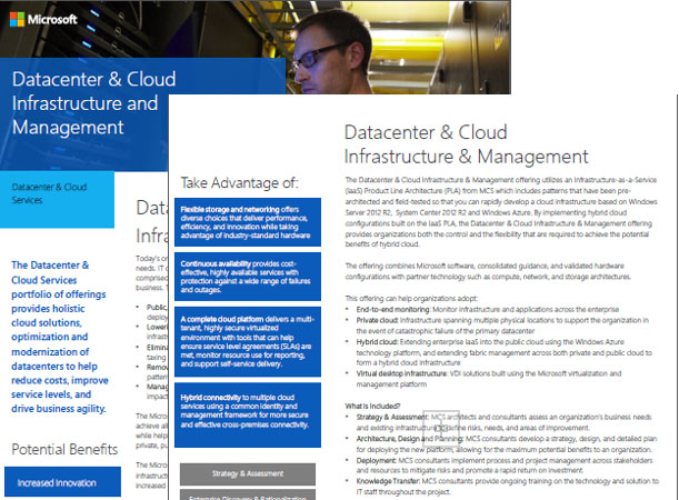 Datacenter and Cloud Infrastructure and Management Datasheet