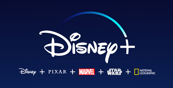 Disney, PIXAR, Marvel, Star Wars, and National Geographic logos.