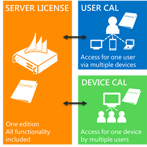 Server/Client Access License (CAL) licensing model
